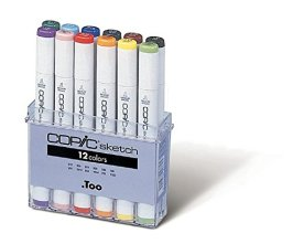 Copic Marker SB12 12-Piece Sketch Basic Set