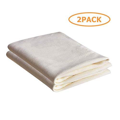 SMARTECH Cleaning Chamois Towels Super Absorbent Premium Wash Shammy Cloth Dry Rags for Home & Kitchen for Auto Car and Precision Instrument Stains(14x20In-2Pack)