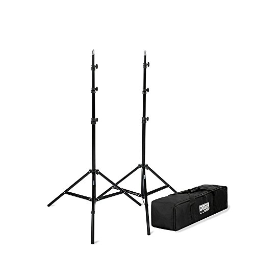 Fovitec - 1x 7'6' Photography & Video Light Stand Kit - [For Lights, Reflectors, & Modifiers][Collapsible][Spring Cushioned][Carrying Bag Included]