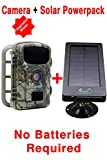 MyCommand Solar Trail Camera 16MP Animal Game Time Lapse Cam with Night Vision Motion Activated, IP66 Waterproof 1080p Spy Outdoor Deer & Wildlife Hunting. (16MP Camera and Solar Power Pack Bundle)