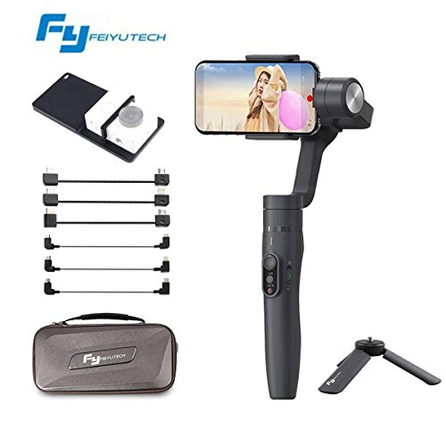 Feiyu Vimble 2 Extendable Handheld 3-Axis Gimbal Stabilizer Compatible for iPhone Smartphone and Gopro Hero 5 Black /4/3+/3 +Cable+GoPro Adapter if Applicable