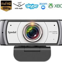 Wide Angle Webcam,120 Degree View Spedal 920 Pro Video Conference Distance Learning Remote Teaching Camera, Full HD