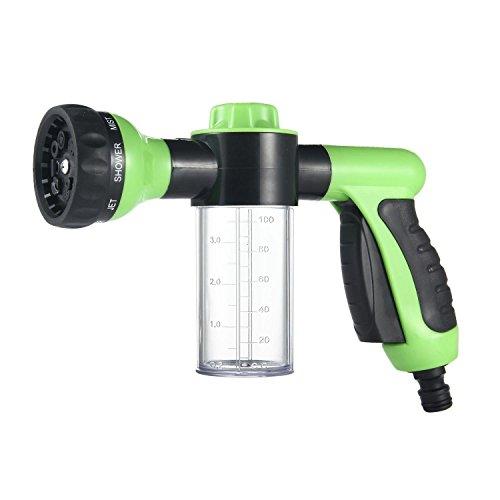 Green multifunctional high pressure foam water spray gun garden hose nozzle hand sprayer for High pressure garden hose nozzle
