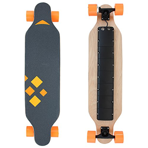 HAITRAL Motorized Electric Skateboard-37 Inches Maple-9 layers as Transportation Electric Longboard with Wireless Handheld Remote Control