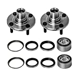 Front Wheel Hub and Bearing Assembly Left or Right Compatible Chevrolet Prizm Geo Prizm Toyota Corolla AUQDD 518507 x2 (Pair) [ 5 Lug Non-ABS Hub Repair Kit ]