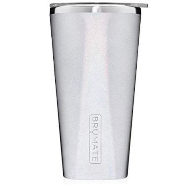 Brumate-Imperial-Pint-20oz-Shatterproof-Double-Wall-Vacuum-Insulated-Stainless-Steel-Travel-Camping-Mug-for-Beer-Cocktails-Coffee-Tea-with-Splash-Proof-Lid-for-Men-Women-Glitter-White