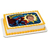 The Superman Edible Frame Cake Image Topper