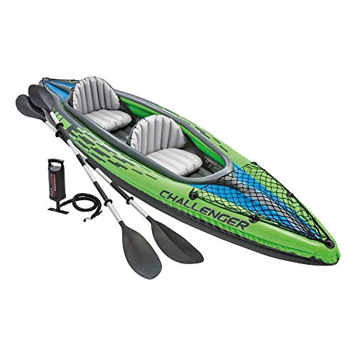 Intex Challenger K2 Kayak, 2-Person Inflatable Kayak Set with Aluminum Oars and...