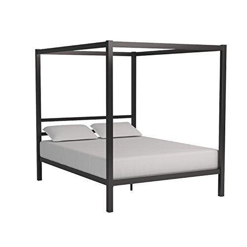 DHP Modern Canopy Bed Frame, Classic Design, Queen Size, Grey ...