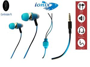 Ionix Pro-01 Model Universal Wired in-Ear Headphone Earphones with 3.5 mm Jack with Mic for All Apple and Android Smartphones