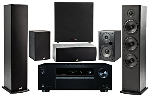 Onkyo 5.2 -Channel Wireless Bluetooth 4K 3D A / V Surround Sound Multimedia Home Theater System