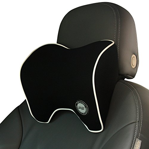 Car Neck Support Pillow for Neck Pain Relief When Driving,Headrest Pillow for Car Seat with Soft Memory Foam - Black
