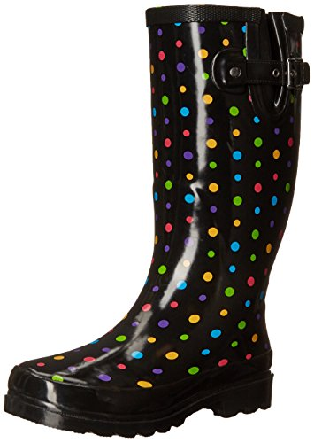 Western Chief Women's Printed Tall Rain Boot, Ditsy Dot, 11 M US