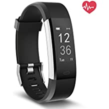 Delvfire Fitness Tracker HR, Activity Tracker with Heart Rate Monitor, Smart Watch IP67 Waterproof Wristband with Calorie Counter, Step Pedometer, Sleep Monitor for iPhone, Android - Kids Women Men