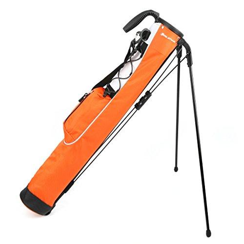 Orlimar Pitch and Putt Golf Lightweight Stand Carry Bag, Orange