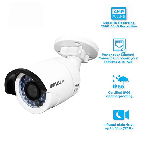 HIKVISION V5.3.3 4MP International Version POE IP Bullet Camera Security DS-2CD2042WD-I 6mm firmware upgradeable