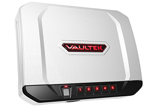 VAULTEK VT20i Biometric Handgun Safe Smart Pistol Safe with Auto-Open Lid and Rechargeable Battery