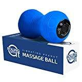 Professional Vibrating Peanut Massage Ball - Deep Tissue Trigger Point Therapy, Myofascial Release - Handheld, Cordless - 4 Intensity Levels - Dual Lacrosse Ball Vibration Massager