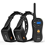 ieGeek Dog Training Shock Collar for 2 Dogs - Rechargeable and Waterproof - 1960ft Blind Operation Remote Controlled Electric Collar with Tone/ Vibration/ Shock for Smal/ Medium/ Large Dogs