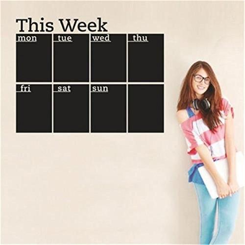 CH Removable Blackboard This Week Chalkboard Wall Sticker Home Office Decor