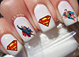 Super Man Water Nail Art Transfers Stickers Decals - Set of 34