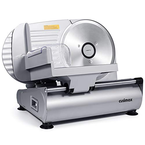 CUSIMAX-Meat-Slicer-Electric-Food-Slicer-with-75-Removable-Stainless-Steel-Blade-and-Pusher-Deli-Cheese-Fruit-Vegetable-Bread-Cutter-Adjustable-Knob-for-Thickness-Food-Carriage-Non-Slip-Feet