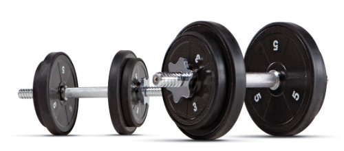 Marcy Adjustable Dumbbell Set with Case, Plates, Handles and Collars ADS-42