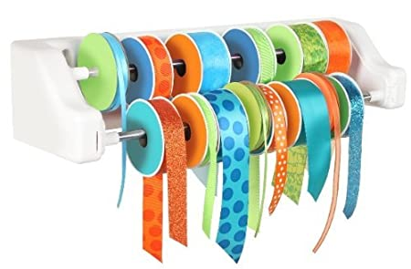 awesome ribbon organizer that mounts to the wall