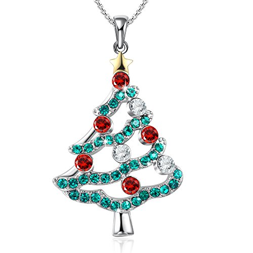 Christmas in the airchristmas tree pendant necklace gifts for girls christmas in the airchristmas tree pendant necklace gifts for girls daughter wife mother crystals from swarovski aloadofball Images