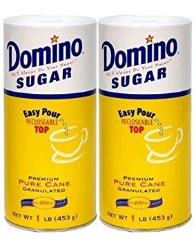 Domino Premium Pure Cane Granulated Sugar with Easy Pour Recloseable Top 16 oz. (Pack of 2)