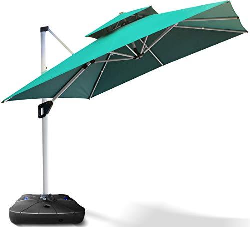 Project One 10ft Patio Umbrella Square, Large Tilting Patio Umbrella