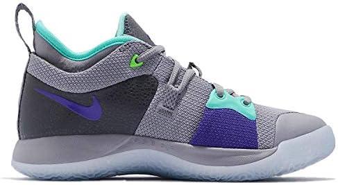 Nike Kids PG 2 (GS) Pure Platinum/Neo Turq Basketball Shoe 2