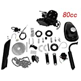 80CC Bicycle Engine Kit, Motorized Bike 2-Stroke, Petrol Gas Engine Kit, Super Fuel-efficient for 26' and 28' Bikes (Black)