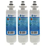 3 Pack Tier1 WF1CB Frigidaire PureSource, WFCB, RG100, WF284, NGR2000, Kenmore 469906, 469910 Replacement Refrigerator Water Filter (3)
