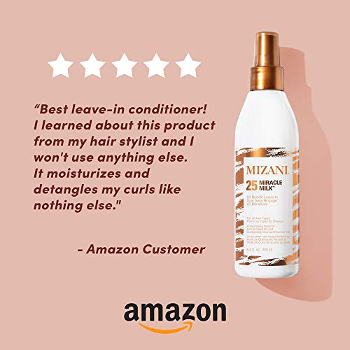 MIZANI 25 Miracle Milk Leave-In Conditioner | Leave in Heat Protectant Spray to Detangle & Hydrate Hair | For Curly Hair 5