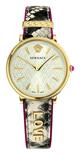 41S%2BT37wl4L Love' embossed on strap Additional leather strap included Swiss-quartz Movement