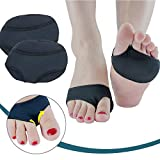 Gel Forefoot Cushions Sleeves, Stretchable & Anti Slip Metatarsal Pads Forefoot Support Ball of Foot Cushions Inserts Massager, Pain Relief Absorber Prevent Calluses Pressure Friction
