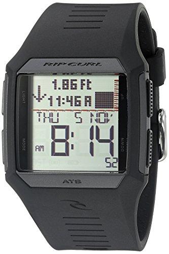 Rip Curl Men's A1119-BLK Rifles Tide Digital Display Quartz Black Watch