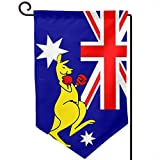 ZSQZ-HY Australian Kangaroo Boxing Garden Flag 12.5 X 18 Inch Decorative Flags for Festival Outdoor/Indoor Decoration, Double-Sided Garden Flag (Fillet,Shape Corner,Square)