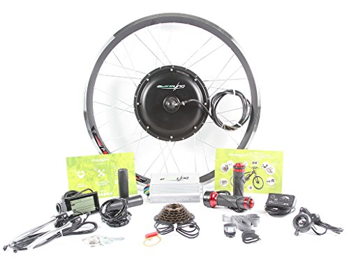 """EBIKELING 48V 1200W Direct Drive Motor Front Rear Wheel 26"""" 700C e-Bike Conversion Kit Electric Bicycle (26"""", Front/Thumb/LCD)"""