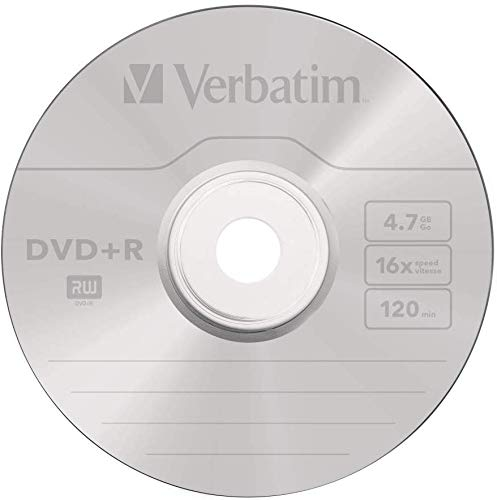 41SAkM4HdFL - Verbatim DVD-R Discs 25 Spindle Pack, Bulk Pack 25 x DVD-R Blank Discs with AZO Protection Against UV, 16x Speed, 4.7 GB