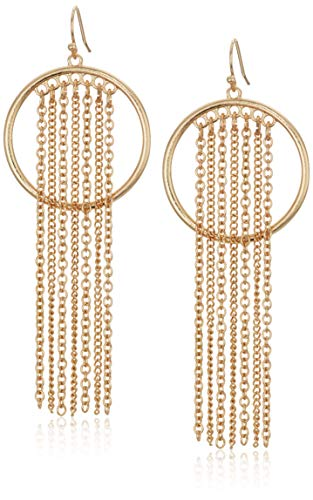81vtpPP2YNL Dream catcher hoop earring with chain fringe gold tone finish
