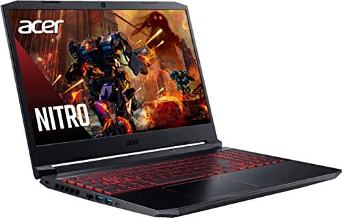 Acer Nitro AN515 Gaming Laptop Quad Core Intel i5-10300H up to 4.5Ghz 8GB 256GB SSD 15.6in Full HD HDMI Backlit Keyboard Nvidia 4GB (Renewed)