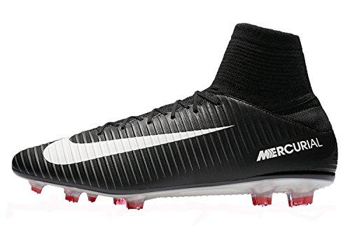 NIKE Men's Mercurial Veloce III DF FG Soccer Cleat (Black)