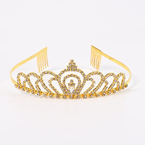 RIVERTREE-Gold-Costume-Princess-Crown-with-Comb-Pin-for-Girls-Women-Crystal-Bridal-Wedding-Tiara
