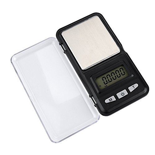 Scales for Digital Weight, Portable Mini Electronic Digital Scale 200g/0.1g Mini Lighter Style Digital Cordyceps Nest Pocket Scale Jewelry Gold Herb Balance Weight Gram LCD (Black)
