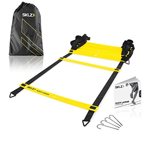 SKLZ Quick Ladder. Flat Rung Agility Training Ladder.  15 ft. Multi-Sport Training Tool.