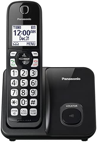 Panasonic Expandable Cordless Phone System with Call Block and High Contrast Displays and Keypads - 1 Cordless Handset - KX-TGD510B (Black) 13