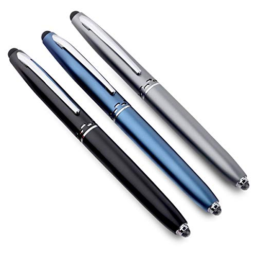 VAGMI Multi-function Metal Stylus Pen With Torch And Screen Touch For All Android Phone(Pck of 4) 1