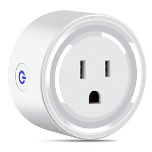 Bropang Wi-Fi Mini Smart Plug Outlet, Remotely Control from Anywhere, No Hub Required